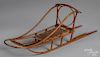 """Miniature bentwood dogsled, early 20th c., 21"""" l."""