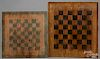 Two painted gameboards, ca. 1900