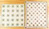 Two pieced star quilts, late 19th c.