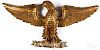 Large carved giltwood spread winged eagle