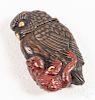 Japanese mixed metal bird match vesta safe