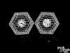 Platinum diamond filigree earrings