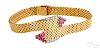 18K yellow gold ruby and diamond bypass bracelet
