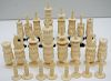 HAND CARVED MID CENTURY CHESS SET