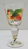 13 HAND PAINTED ROOSTER GOBLETS