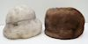 2 NATURAL MINK HATS