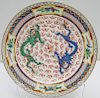 SMALL DOUBLE DRAGON CHINESE PLATE