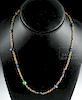 Roman 20K+ Gold and Glass Bead Necklace
