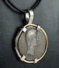 Roman Silver Cistophorus Tetradrachm / 14K Gold Pendant