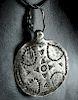 6th C. Scandinavian Pre-Viking Silver Bracteate Pendant