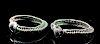 Lot of 2 Byzantine Silver Wire Bracelets, 94.8 g