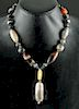 Bactrian Banded Agate Bead Necklace