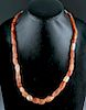 Bactrian Carnelian & Banded Agate Bead Necklace