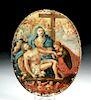 17th C. European Painting on Copper - Pieta