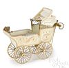 Marklin painted tin doll carriage