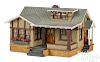 Painted wood and stucco craftsman style bungalow