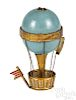 Brass and celluloid hot air balloon tape measure