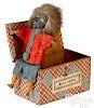 Master Golliwog Jack-in-the-box squeak toy