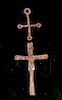 Lot of 2 Early Byzantine Iron Crosses