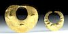 Two Moche Gold Nose Rings - High Karat Solid Gold