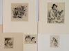 Arthur Heintzelman 5 etchings