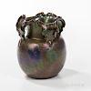 Clement Massier Iridescent Pottery Vase