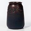 Charles S. Todd for Rookwood Pottery Matte Vase with Molded Flowers