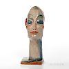 Gudrun Baudisch (1907-1982) Ceramic Female Head for Weiner Werkstatte