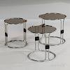 Three Bauhaus-style Nesting Tables
