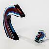 Harvey K. Littleton (American, 1922-2013) Sliced Form  Cased Glass Sculpture