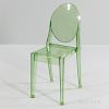 """Philippe Starck for Kartell Green """"Victoria Ghost"""" Chair"""
