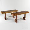 Pair of Zebrawood Consoles