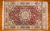 Silk Chinese rug, approx. 4.2 x 6