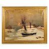 Julius Von Klever. Winter Landscape, oil