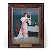 Bartholomay Lady Serving Self-framed Tin Litho