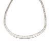 Platinum Baguette Diamond Channel Set Necklace