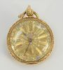 18 karat gold open face pocket watch having multi-colored gold dial, works signed: Isaiah Lukens London, no
