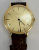 18 karat Patek Philippe mens wristwatch.  32mm