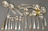 Tiffany & Co. sterling silver flatware set, Flemish pattern, 106 piece set to include (17) teaspoons, (11) soup spoons, (8) dinner k...