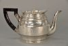"""Georgian silver teapot, 18th century, maker probably Robert and David Hennell 1795,  monogrammed on bottom: """"Their RH the Duke and D..."""