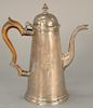 Georgian silver lighthouse style teapot.  height 9 1/4 inches, 23.1 troy ounces