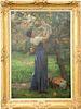 "Virginie Demont-Breton (1859-1935),  oil on canvas,  ""Mere et Enfant Dans Le Jardin""  ""Mother and Child in the Garden"",  picking ora..."