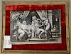 Limoges plaque enamel on copper with women.  height 6 3/4 inches, width 8 1/2 inches  Provenance:  Estate of Eileen Slocum located i...