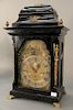 Klaas Johs Anoriese Grouss,  musical automaton chime clock, George III brass mounted case painted automaton landscape with figures...