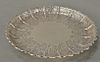Paul de Lamerie (1688-1751) small silver salver,  having scalloped edge with alternating scrolled panels, all set on plain round f...