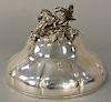 Paul Storr (1771-1844) silver dish cover,  having large floral finial, circa 1827-28