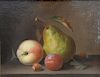 "Paul LaCroix (1827-1864),  oil on board,  Still Lift of Fruit and Nuts,  signed lower left: P. Lacroix,  sight size 7"" x 9 1/4"""