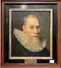 "William I Prince of Orange,  oil on canvas,  16th/17th century,  unsigned,  16 3/4"" x 14 1/2"""