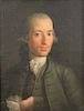 18th century,  oil on canvas,  half length portrait of Don Marcos Ibanez,  in period frame and stretcher,  restretched and r...