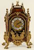 LATE 19TH C. LOUIS XV STYLE BRONZE MOUNTED CLOCK